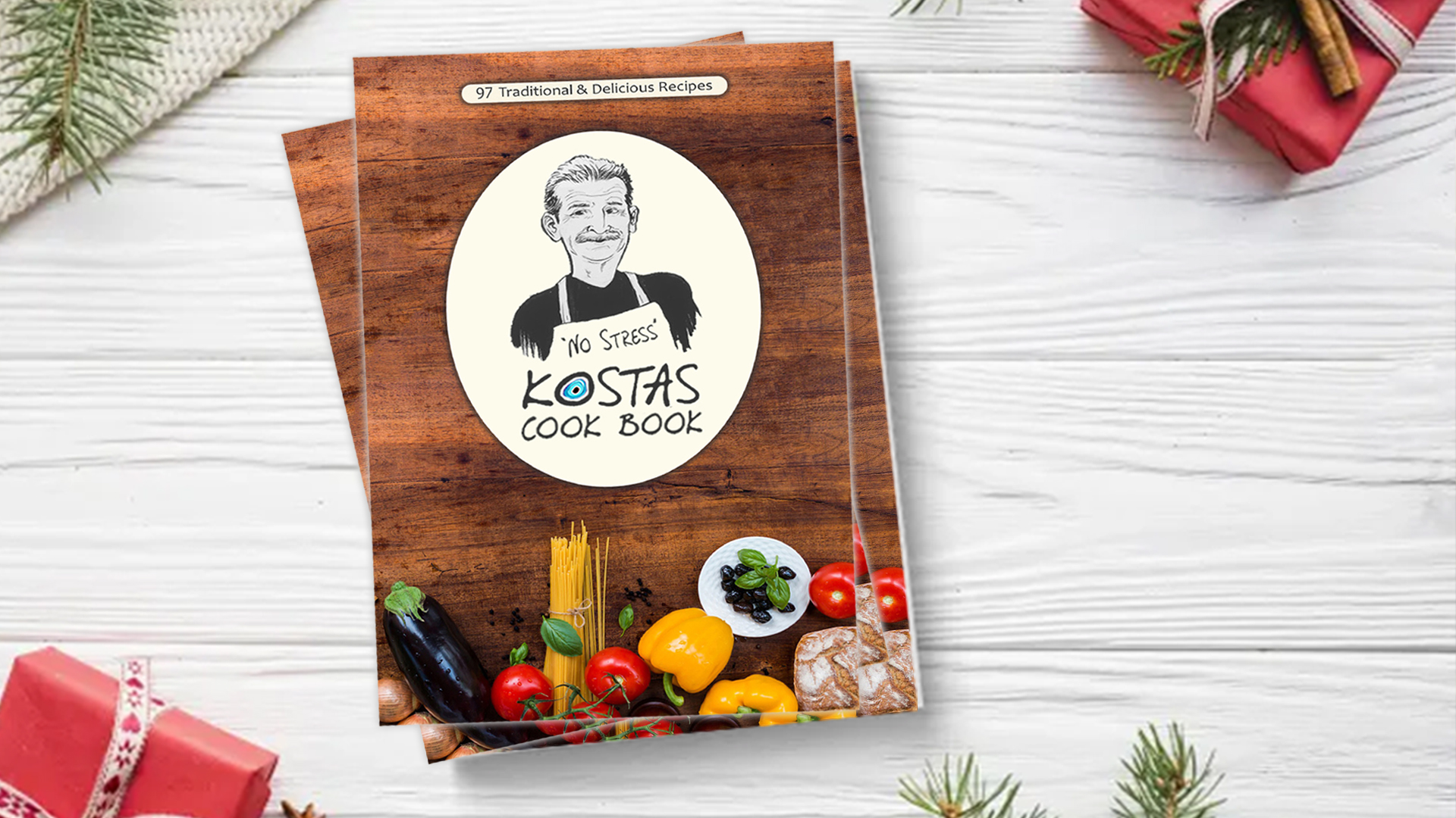 "Kostas ""No Stress"" Cook Book 📙 A Simple and Useful Guide to Greek Cuisine"
